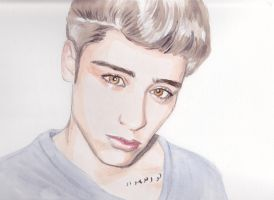Zayn Malik Watercolours by PoorMedea
