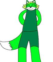 Green Fox Kid Adoptable by Ilovefallingcows25