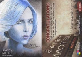 Bates Motel - Norma Louise Bates Sketch Art Card by DenaeFrazierStudios