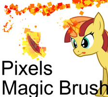 Pixels Magic-Free Use Brush for Photoshop+Tutorial by thetriforcebearer