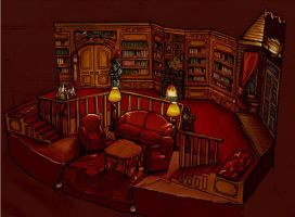 Blithe Spirit Set Design by Dementist29