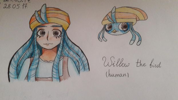 -Angry Birds- Willow anime/human by Pig3oink