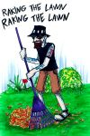 Raking The Lawn by the-ChooK