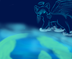 i ll always watch over earth by MooncloudKitty