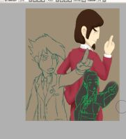 WIP - Deponias ace attorney 2 by YukiLilaPudel