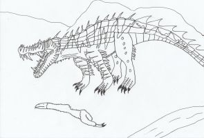 Draconian Kaprosuchus by Nevert013