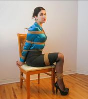 drezzy in silk blouse, fully bound by Sir-Darcy