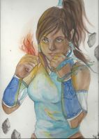 Korra Watercolor by NicoleLekach