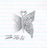 In-class butterfly doodle by Musakcritiq