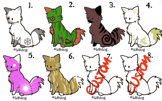 More cheap cat adopts!! by SapphireCookie