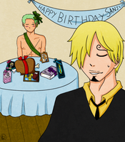 HAPPY BIRTHDAY SANJI by Snuckledrops
