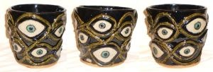 Twelve-Eyed Pot by aberrantceramics