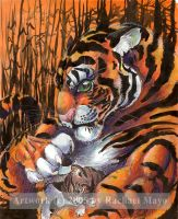 A Tiger and His Kitty by rachaelm5