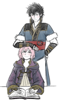 Iona and Lon'qu by tsynth