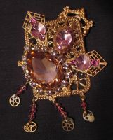 Steampunk details - Brooch by Space-Invader