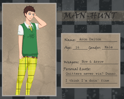 Aron Dalton [MAN-HUNT Application] by akujin-joutei