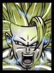 digital : dragonball z goku ssj3 power up 2012 by darshan2good