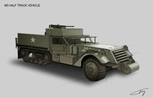 M3 Half Track Vehicle by ichitakaseto