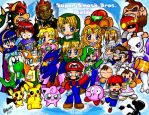 Super Smash Brothers Melee by BettyKwong