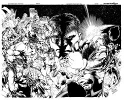 Incredible Hulk 612-613 Covers by jasonpaz