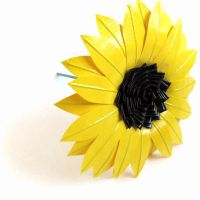 Duct tape Sunflower by DuckTape-Rose