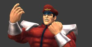M Bison's Yes pose by MichealJordy