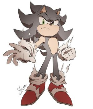 Dark Sonic sketch by Shira-hedgie
