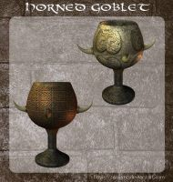 3D Horned Goblet by zememz
