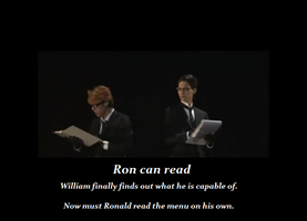 Ronald can read by Jashin88