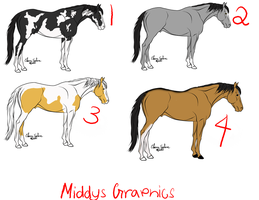 Horse Adoptables: Set Two by MiddysGraphics