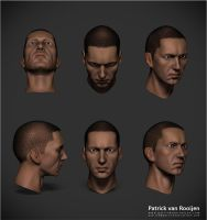 Trying to get a likeness in ZBrush by PatrickvanR