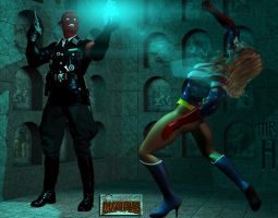 Miss America vs the Red Skull by Mr-Hypnotyk