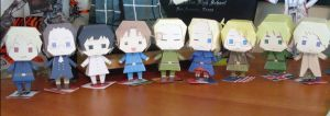 Hetalia papercrafts by zizzy
