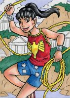 Wonder Girl (Donna Troy) ATC by ibroussardart