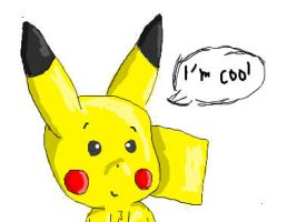 cool pikachu by TailTehEeveelution