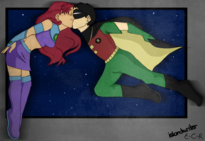 TT - Starfire and Robin by IslandWriter