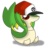 Snivy has your Hat by Latiar027