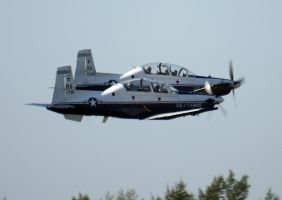 T-6 II Formation Takeoff by shelbs2