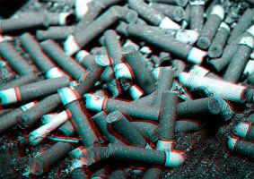 3D Anaglyph Ashtray by crazinessisay