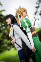 Suguha + Leafa by Kairi-Heartless