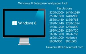 Windows 8 Enterprise Wallpaper Pack by Taiketsu0099