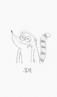 Re-Sketch of Classic Rigby by SketchedJDII