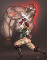 Cammy vs Zangief by TOTOPO