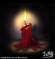 Candle in the dark by junosama