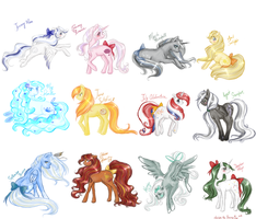 A year of ponies - default sketches by January-Joy