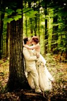 wedding in the woods by greycamera