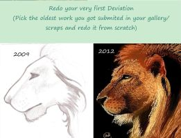 KYOA challenge- Redo your first deviation by Jenniferard2050