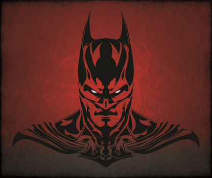 Batman Tribal Tattoo Design by Amoebafire