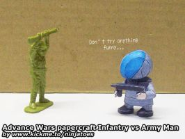 Advance Wars paper beats Army Men plastic by ninjatoespapercraft