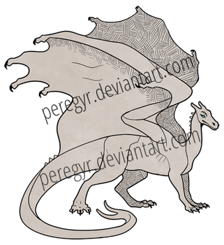 Pern Dragon Template - Gold/Bronze/Brown by peregyr